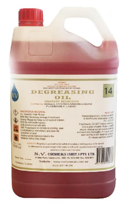 Degreasing oil